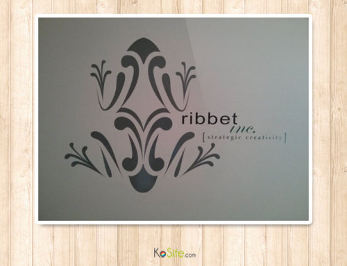 Ribbet Inc. Logo Wall Decal Sticker
