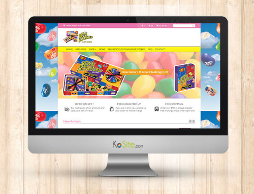 Beanboozled e-Commerce website design and management