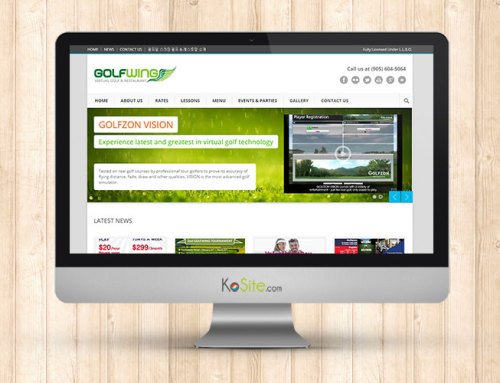 Indoor Golf Simulator Business Website