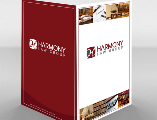 Harmony Law Group Folder Design & Print