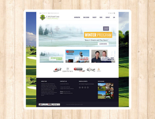 Responsive Website for Michael Lee Golf Academy