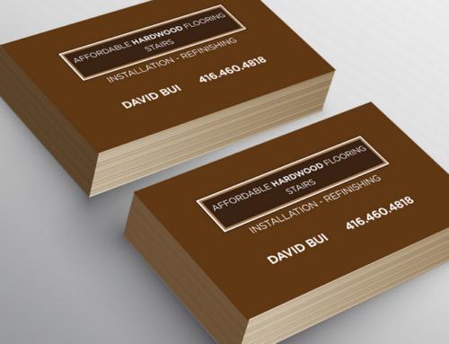 Hardwood Refinishing 명함 디자인 & 인쇄