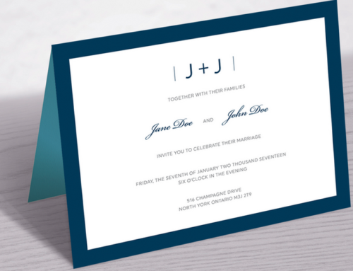 Custom Wedding Invitation Design & Print