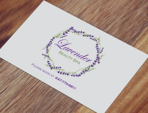 Lavender Beauty Spa Business Card Design & Print