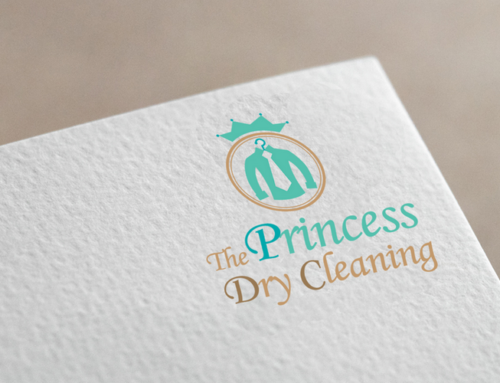 Princess Dry Cleaning 로고 디자인