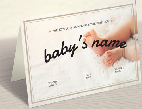 Baby Card Design & Print