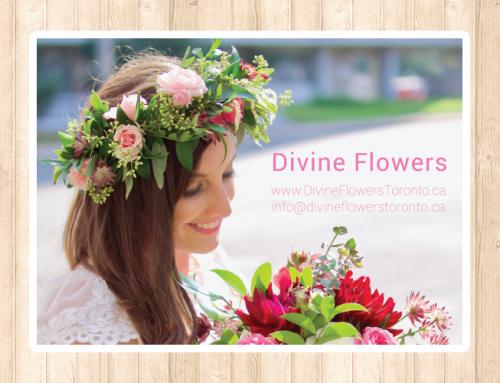 Divine Flowers 포스트카드 디자인 및 인쇄
