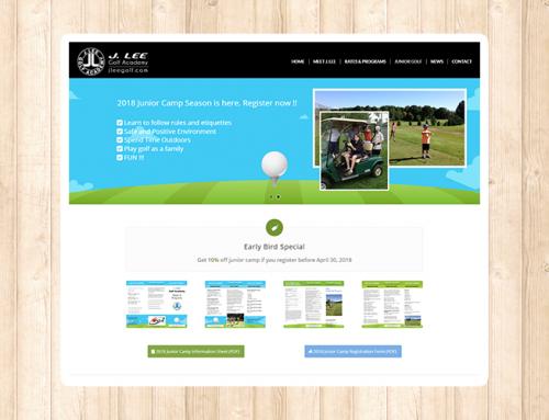 J Lee Golf 웹사이트 리뉴얼