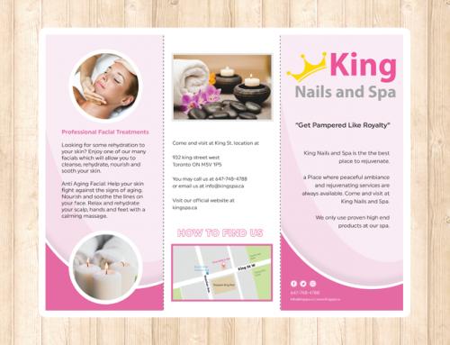 King Spa 브로셔 디자인 및 인쇄