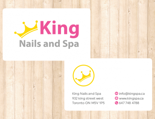 King Spa 명함 디자인 및 인쇄