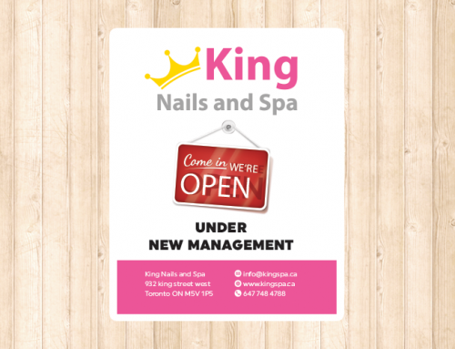 King Spa 포스터 디자인 및 인쇄