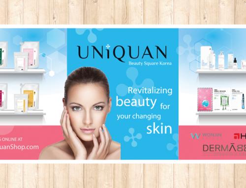Uniquan 몬트리얼 박람회 부스 & 테이블 커버 디자인